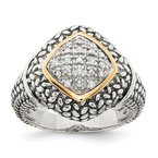 Shey Couture Sterling Silver w/14k 1/10ct. Diamond Ring