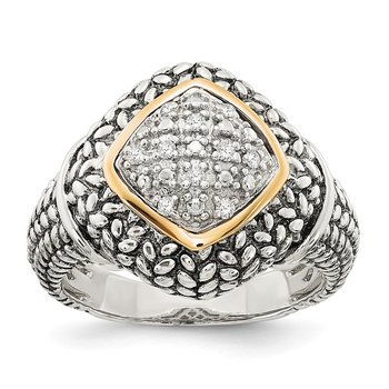 SS w/14k True Two-tone 1/10ct. Diamond Ring