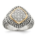 Shey Couture SS w/14k True Two-tone 1/10ct. Diamond Ring