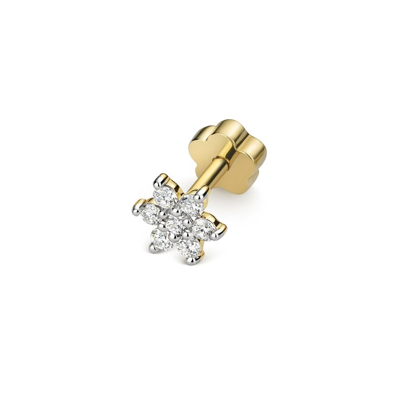Treasure Diamond Cartilage Flower Stud