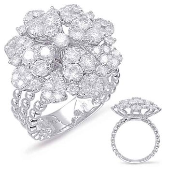 White Gold Diamond Fashion Ring