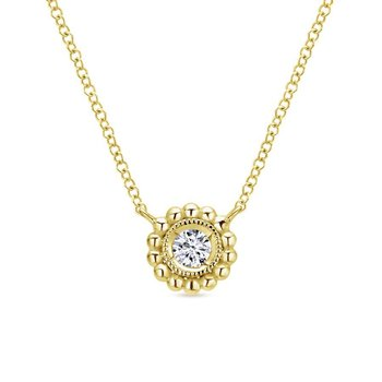 14K Y.Gold Diamond Necklace