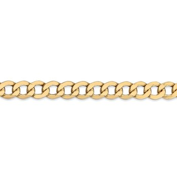 14k 7mm Semi-Solid Curb Chain