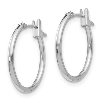 14k White Gold Madi K 1.25mm Hoop Earrings