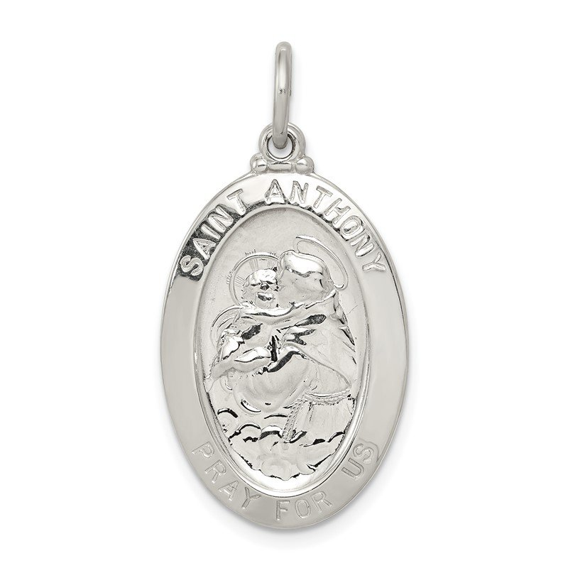 Quality Gold Sterling Silver Saint Anthony Medal