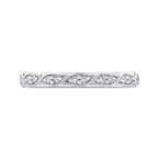 Carizza Half-Eternity Wedding Band In Round Diamond 14K White Gold
