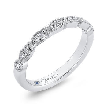 Half-Eternity Wedding Band In Round Diamond 14K White Gold