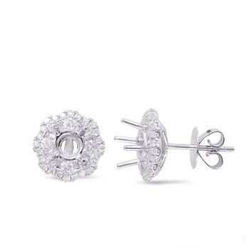 Halo Diamond Earring For .60cttw Round