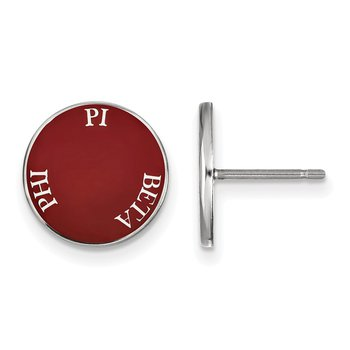 Sterling Silver Pi Beta Phi Greek Life Earrings
