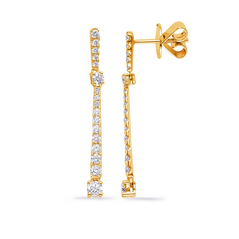 S. Kashi  & Sons Yellow Gold Diamond Fashion Earring