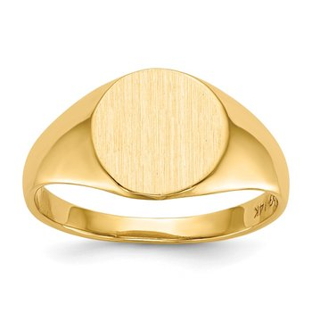14k 9.5x10.0mm Open Back Signet Ring