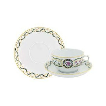 Cappuccino Cup & Saucer Set Of 2 (Siam Shape)