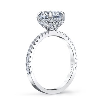 MARS 25527 Diamond Engagement Ring 0.32 Ctw.