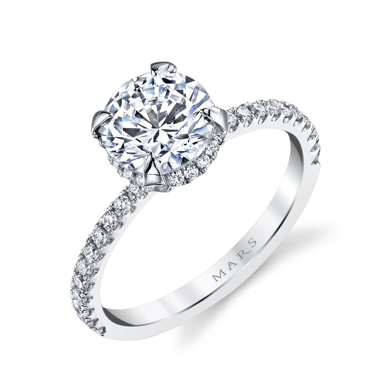 MARS Jewelry MARS 25527 Diamond Engagement Ring 0.32 Ctw.
