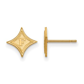 Gold Furman University NCAA Earrings