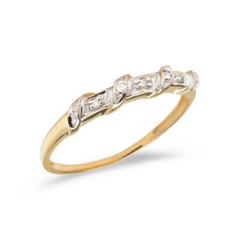 10K Yellow Gold Diamond Band Ring