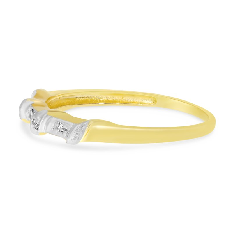 Color Merchants 10K Yellow Gold Diamond Band Ring