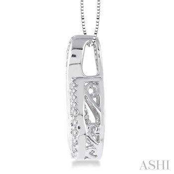 infinity emotion diamond pendant