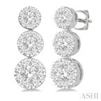 ASHI past present & future lovebright diamond earrings