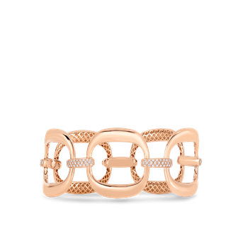 Link Bracelet With Diamonds