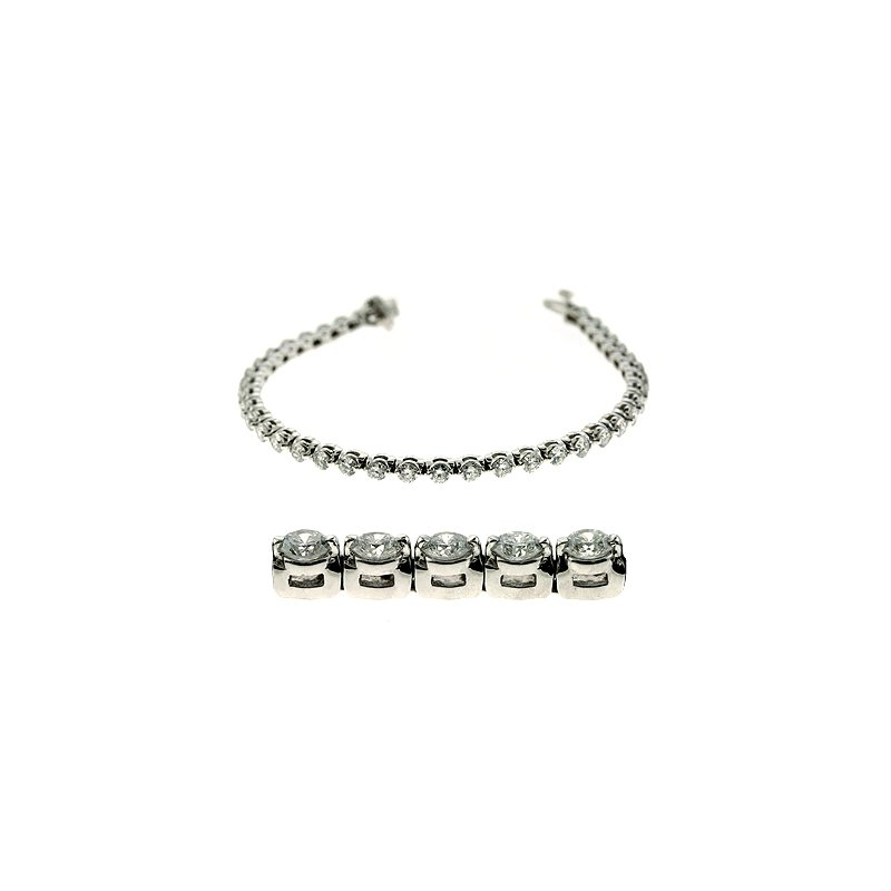 Briana White Gold Diamond Bracelet