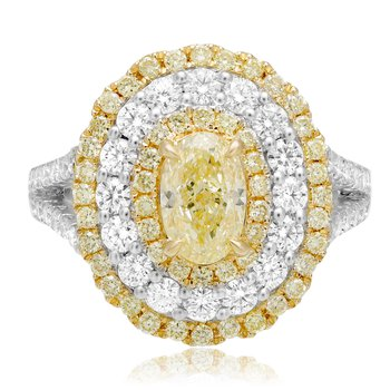 Fancy Yellow Diamond Fashion Ring