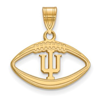 Gold-Plated Sterling Silver Indiana University NCAA Pendant