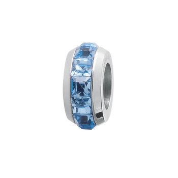 316L stainless steel and sapphire Swarovski® Elements crystals