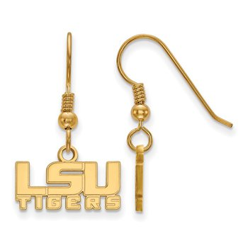 Gold-Plated Sterling Silver Louisiana State University NCAA Earrings