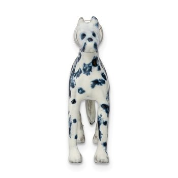 Sterling Silver Enameled Great Dane Charm