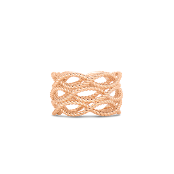 3 Row Ring &Ndash; 18K Rose Gold, 6.5
