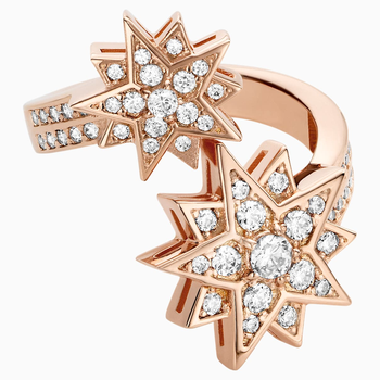 Penélope Cruz Moonsun Ring, Limited Edition, White, Rose-gold tone plated