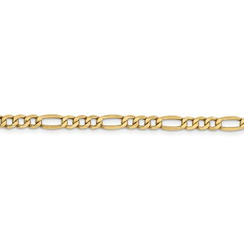 Leslie's 14K 4.40mm Semi-Solid Figaro Chain