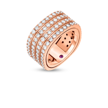 18KT 4 ROW DIAMOND PORTOFINO BAND