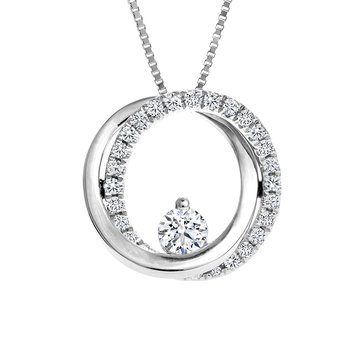 Diamond Circles Pendant