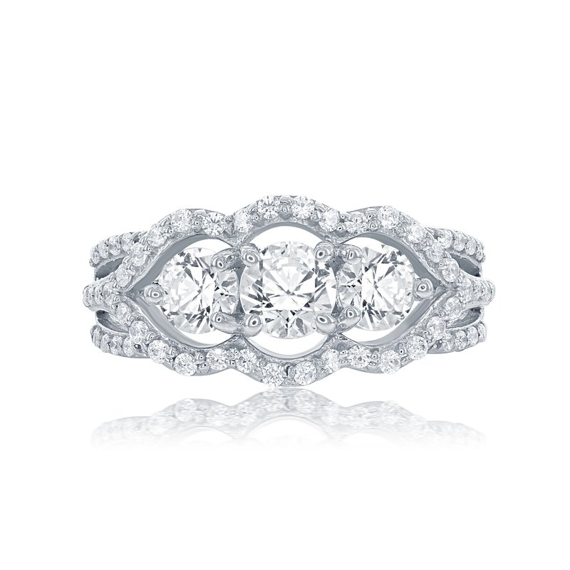 Veer Diamonds ASTERIA THREE STONE RING