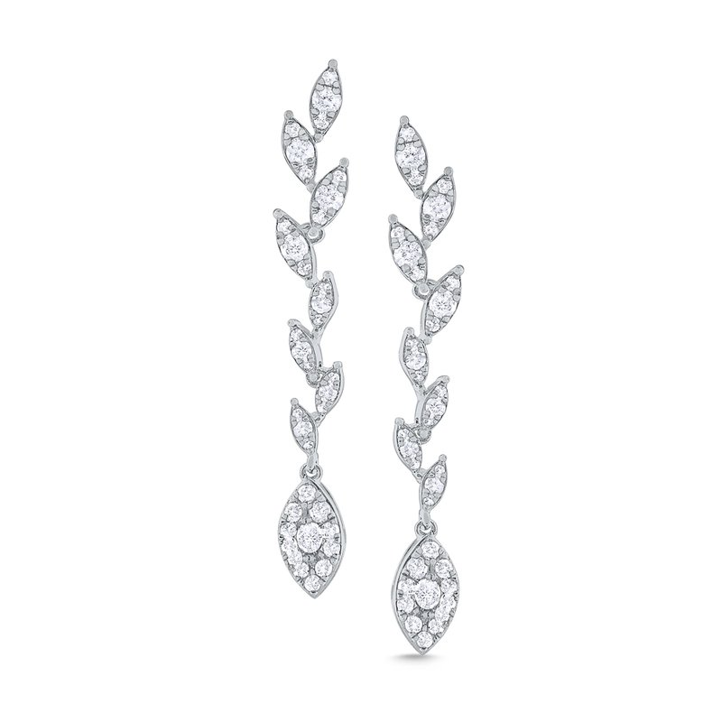 KC Designs 14k Gold and Diamond Laurel Linear Earring