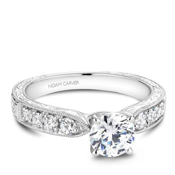 Noam Carver Vintage Engagement Ring B052-01A