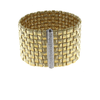 18KT GOLD 9 ROW BRACELET WITH DIAMONDS