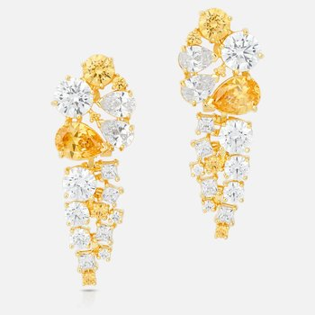 Penélope Cruz Icons of Film Drop Pierced Earrings, Yellow, Gold-tone plated