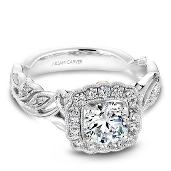 Noam Carver Floral Engagement Ring B075-01A