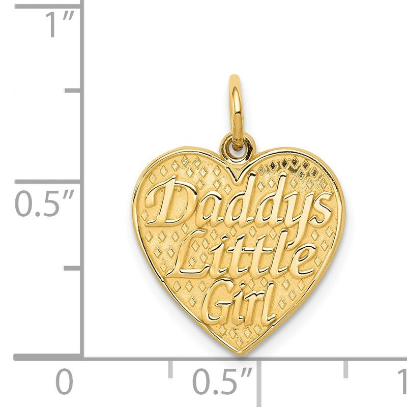 Quality Gold 14k DADDYS LITTLE GIRL Charm