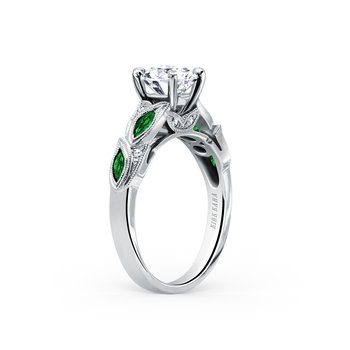 Tsavorite Garnet Diamond Engagement Ring