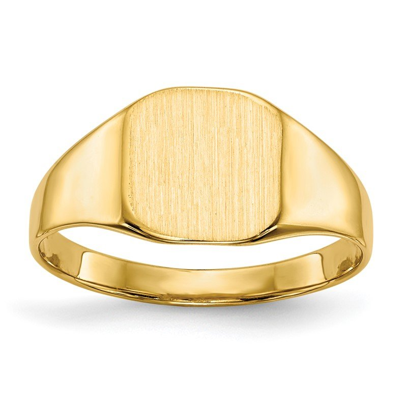 Quality Gold 14k 8.5x8.5mm Closed Back Signet Ring