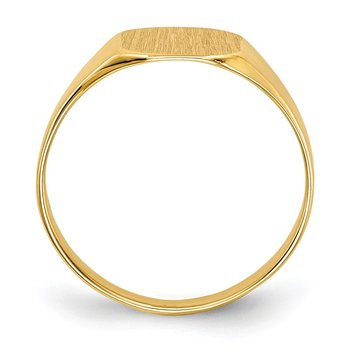 14k 8.5x8.5mm Closed Back Signet Ring