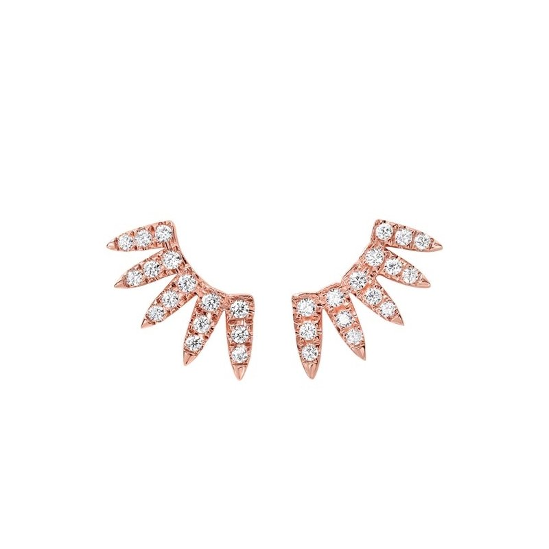 Gems One Diamond Feather Earrings in 14K Rose Gold (1/2 ct. tw.)