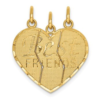 14k 3 piece Break-apart BEST FRIENDS Charm