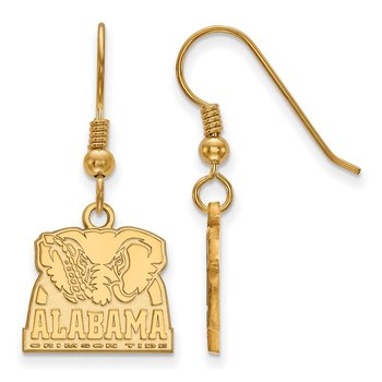 Gold-Plated Sterling Silver University of Alabama NCAA Earrings