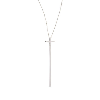 18Kt Gold Elongated Cross Pendant