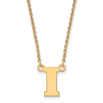 Gold University of Iowa NCAA Necklace